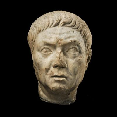 Unknown Roman, 'Ancient Roman Marble Head of a Magistrate', 1st century A.D.