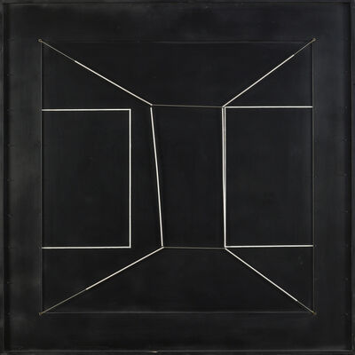Gianni Colombo, 'Spazio elastico intermutabile, due doppi quadrati incompiuti (Intermutable Elastic Space, Two Incomplete Double Square)', 1979