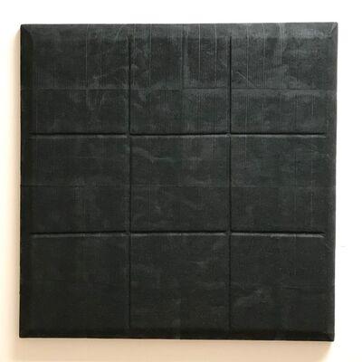 "Ryan DaWalt, ' ""Untitled (Magnetite shaped canvas)""', 2018"
