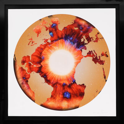 Marc Quinn, ''Iris' with Diamond Dust, Red/Gold ', 2020