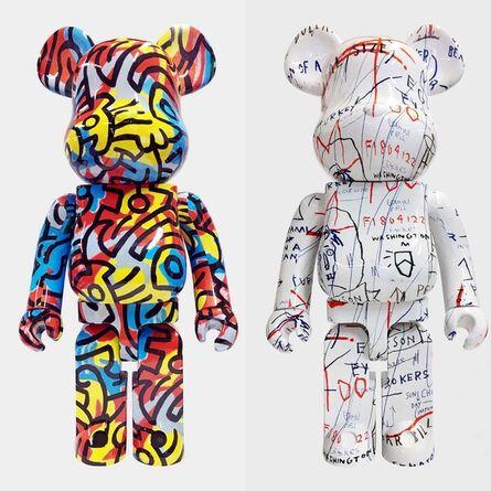 Jean-Michel Basquiat, 'Basquiat & Keith Haring Bearbrick 1000%: set of 2 (Basquiat Haring BE@RBRICK)', ca. 2018