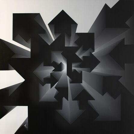 Lakshmi Mohanbabu, 'Fibonacci Nautilus - Inverse Black & White', 2017