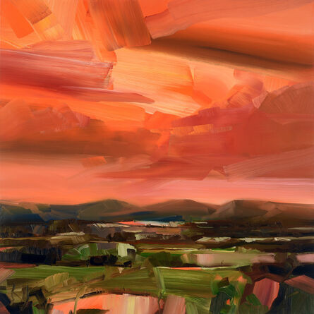 Simon Andrew, 'Dusk Landscape with Mountains', 2020