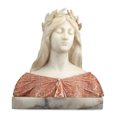 G. Gambrogi, 'Alabaster and Onyx Bust', ca. 1910