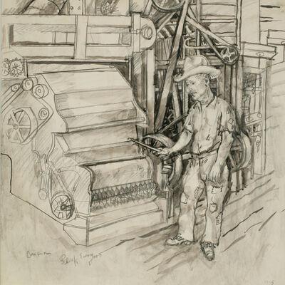 Philip Evergood, 'Cotton Gin Man', 1945