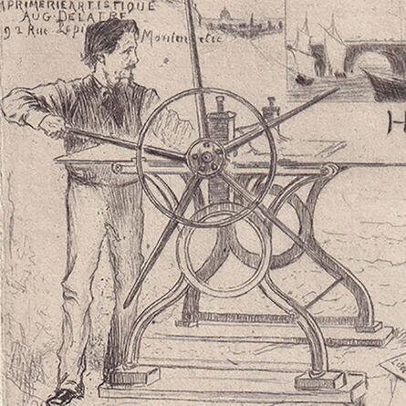 """Auguste Delâtre, 'Frontispiece for Henri Béraldi's """"Les Graveurs du XIX siècle""""', 1886"""