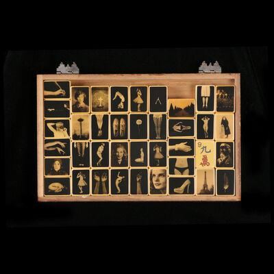 Heidi Kirkpatrick, 'Assorted Mah Jong Tiles in Cedar Box'