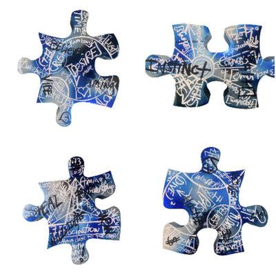 Brendan Murphy, '4 Piece Puzzle Set (blue) (BM53)', 2021