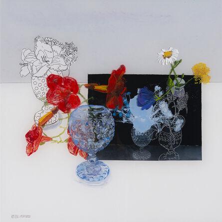 Gail Norfleet, 'Trumpet Vine in a Blue Vase', 2018