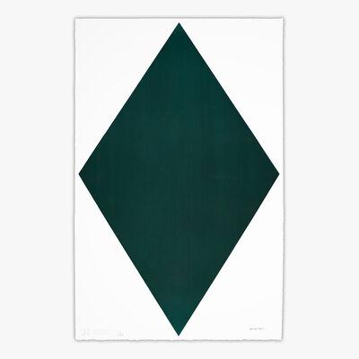 Olivier Mosset, 'DIAMOND GREEN #2781015', 2020