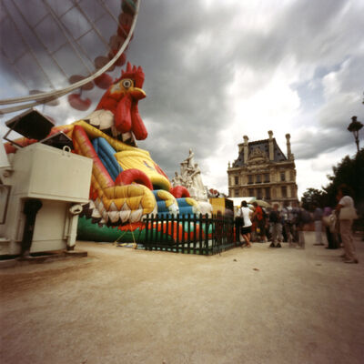 Dianne Bos, 'Tuileries, Giant Rooster & Louvre', 2001