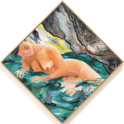 Les Biller, 'Grotto Swimmer', 2014