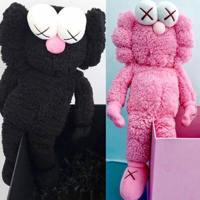KAWS, 'KAWS BFF Plush: set of 2 (KAWS pink KAWS black BFF)', 2016 & 2019