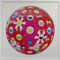 Takashi Murakami, 'Flowerball (3D) - Pink, Red', 2014
