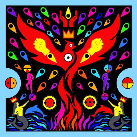 Emo de Medeiros, 'Surtenture #25 (…when the black phoenix shall rise)', 2017