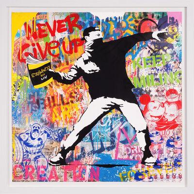 Mr. Brainwash, ''Banksy Thrower' Unique, Street Pop Art Painting', 2021
