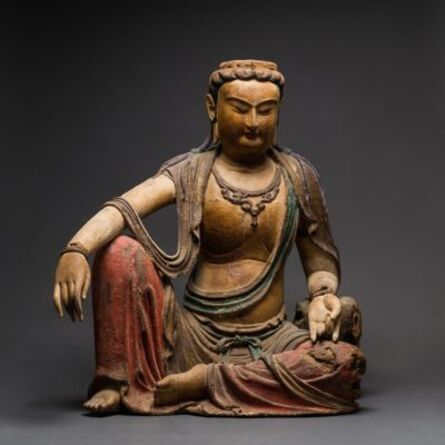 Unknown Chinese, 'Ming Wooden Seated Bodhisattva', 1500-1700