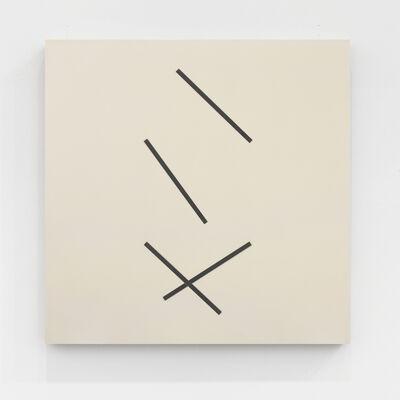 Gerhard Von Graevenitz, 'Vier exzentrische streifen, je zwei synchron ', 1976