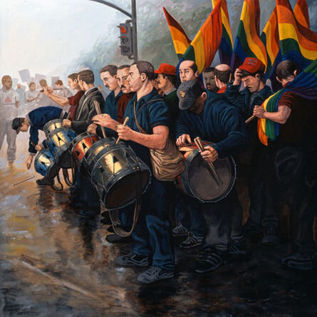 Sandow Birk, 'Early Morning of the Great March on Washington (October 14, 1979)', 1999