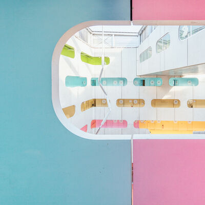 Ludwig Favre, 'Colorful University 3', 2017