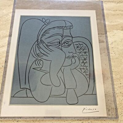 Pablo Picasso, 'Female Head With Supporting Arms', 1962