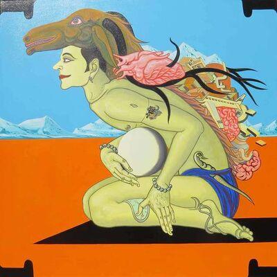 "Birendra Pani, 'Viswaroopam Returns, Acrylic on Canvas by Contemporary Artist ""In Stock""', 2019"