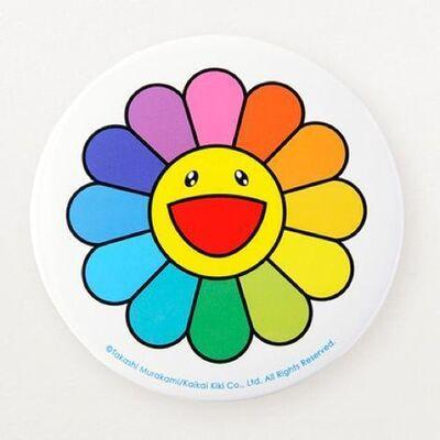 Takashi Murakami, 'Takashi Murakami Rainbow Flower Badge  KaiKai Kiki  6in Tabletop with built in stand. Museum Sold Out', 2020