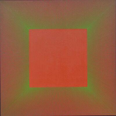 Richard Anuszkiewicz, 'Green Edged Light Red Oxide', 1980