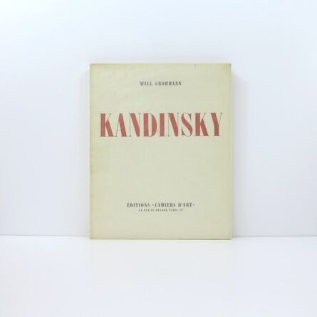 Wassily Kandinsky, 'Will Grohmann, Kandinsky, published by Cahiers d'Art', 1930