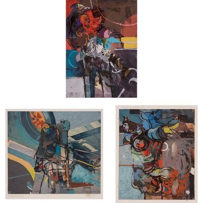 Ibrahim Hussein, '(i) Untitled (ii) Two Pilots (iii) Untitled'
