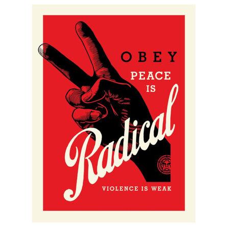 Shepard Fairey, 'Radical Peace (Red)', 2021