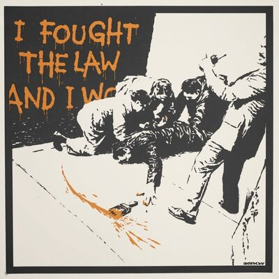 Banksy, 'I Fought The Law - Unsigned', 2004
