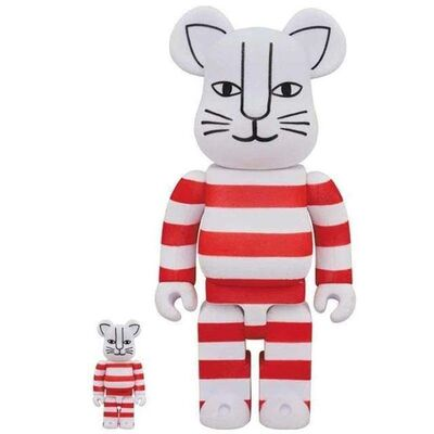 BE@RBRICK, 'Lisa Larson Mikey Red Floked 400% 100%', 2020