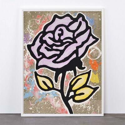 Donald Baechler, 'Violet Rose', 2015