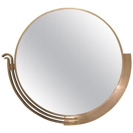 Edgar Brandt, 'Large Modernist Mirror by Edgar Brandt, Signed, France, Art Deco, Circa 1930', ca. 1930