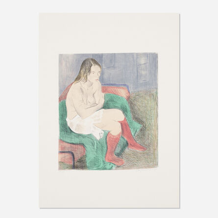 Raphael Soyer, 'Woman in Red Stockings', 1979