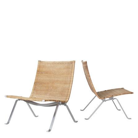 Poul Kjærholm, 'Pair of PK 22 chairs', 1956