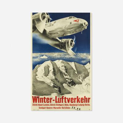 Herbert Matter, 'Winter-Luftverkehr poster', 1935