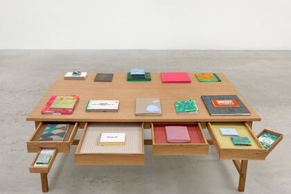 Laura Owens: Books and Tables
