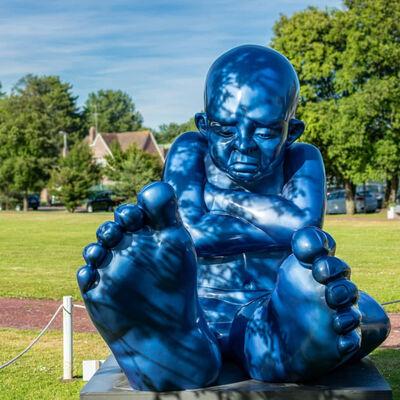 Idan Zareski, 'Babyfoot 220 - Résine bleue', 2020