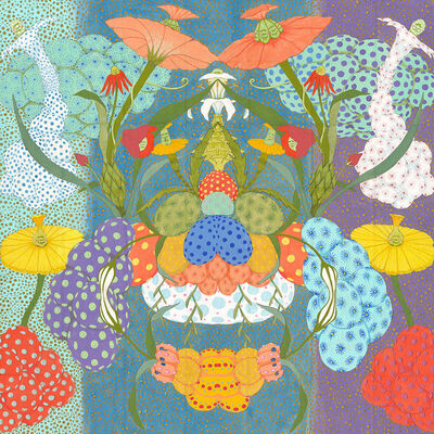 Mari Ito, 'Origen del deseo - Arcoíris púrpura', 2018