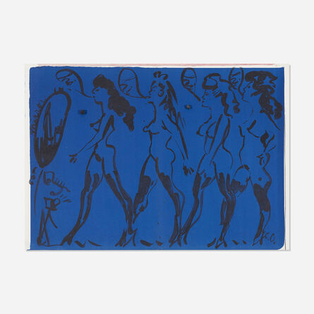 Claes Oldenburg, 'Parade of Women (from the One Cent Life portfolio)', 1964
