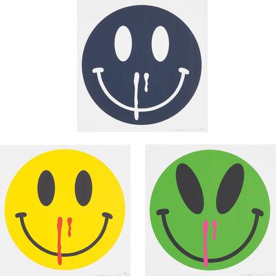MADSAKI, 'Cosmic Overdose; Happiness Overdose (Yellow); and Happiness Overdose (Azul Mariano)', 2020