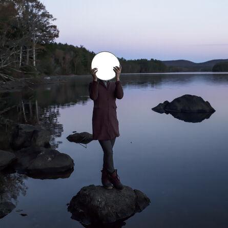 Cig Harvey, 'Sadie and the Moon, Lake Megunticook, Maine', 2013