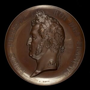 Antoine Bovy, 'Louis Philippe, 1773-1850, King of the French 1830-1848 [obverse]', 1842