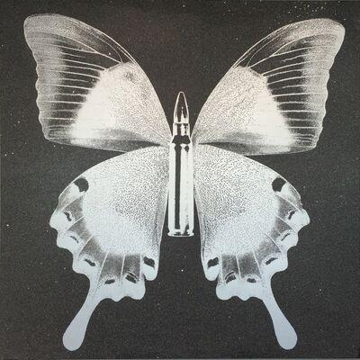 Rubem Robierb, 'BulletFly - Silver on Grey', 2016