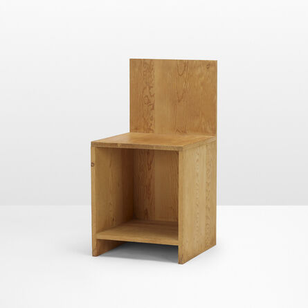 Donald Judd, 'Early chair', 1979
