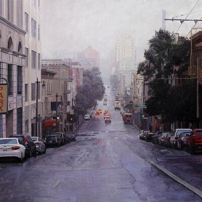 Greg Gandy, 'Looking Down Post Street Towards Downtown'