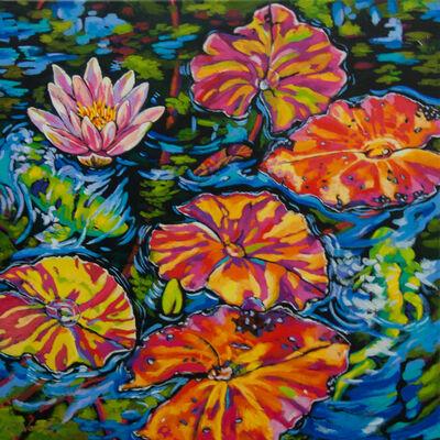 Sally Evans, 'Lilies Dance with Koi', 2016