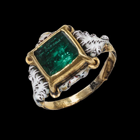 Renaissance Works of Art, 'Emerald and Enamel Solitaire Ring', c. 1680-1720